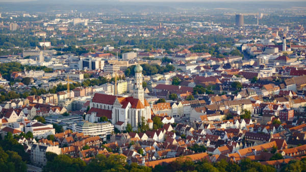Die Stadt Augsburg von oben