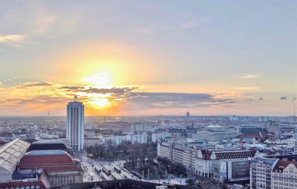 Die Stadt Leipzig aus der Luft