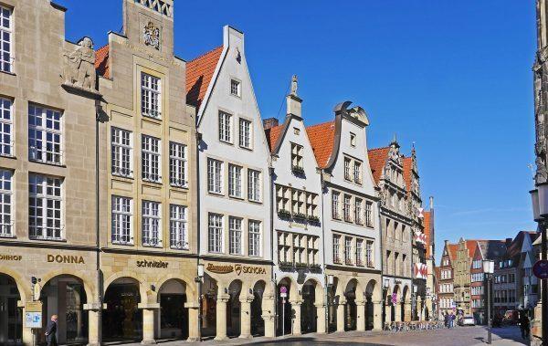 Alte Häuser der Stadt Münster