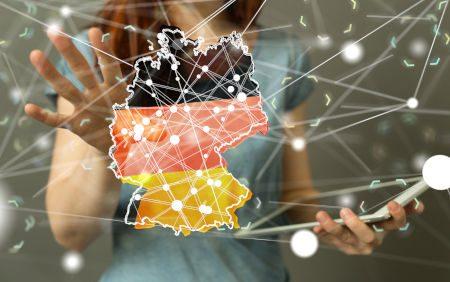 Deutschland Karte mit mehreren Standorten